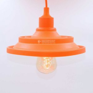 Lampu Gantung Caping Silikon orange